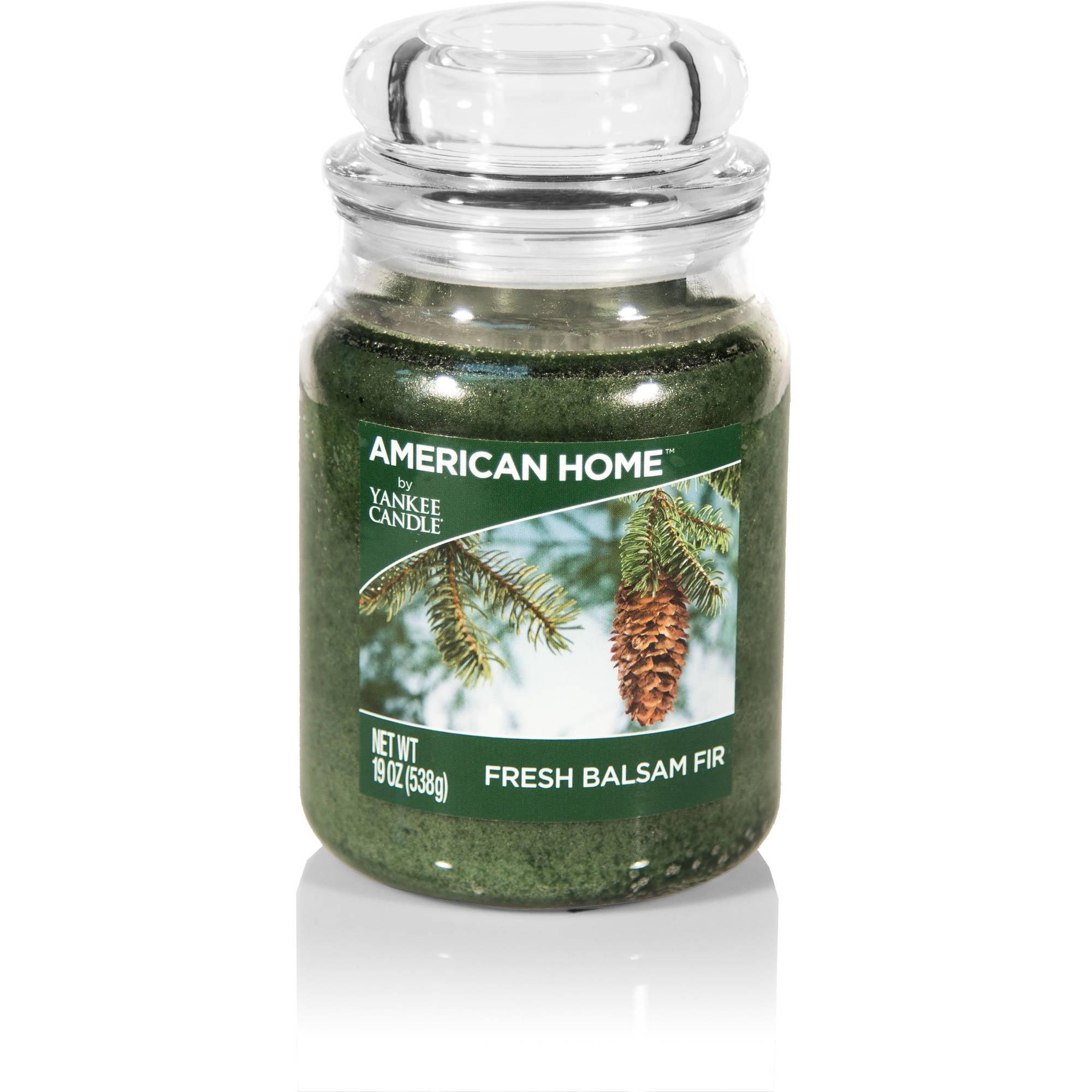 American Home by Yankee Candle Fresh Balsam Fir Candle, 19 oz Large Jar
