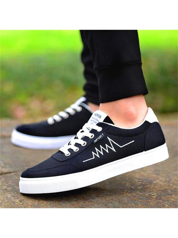 Meigar Mens Casual Canvas Shoes Driving Moccasins Lace up Trainers Sneakers Plimsolls Size 9