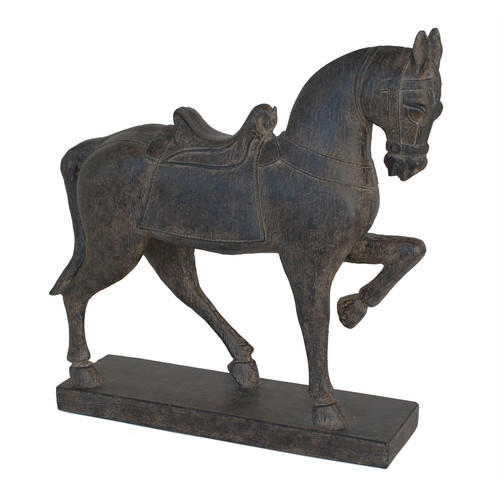 Attractive Brown Resin Horse Figurine