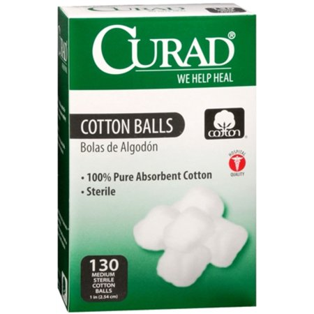 Curad Cotton Balls, 130 count