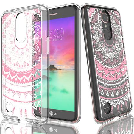 LG K20 Plus Case,LG K20V Case For Girls,Tekcoo [TFlower] Transparent Cute Lovely Adorable Ultra Thin Clear Hard TPU Skin Scratch-Proof Bumper Phone Cases For LG K20V / LG K20 Plus LG TP260 Cell Phone Hard Skin