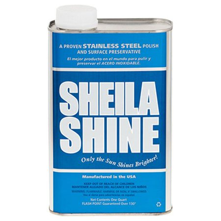 Shine Water - Stainless Steel Cleaner and Polish 1 Quart Can Sold Indivdually, Removes greasy film and water marks. By Sheila Shine
