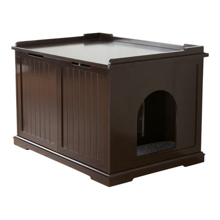 Trixie Pet Wooden Pet House and Cat Litter Box, Extra Large, Brown