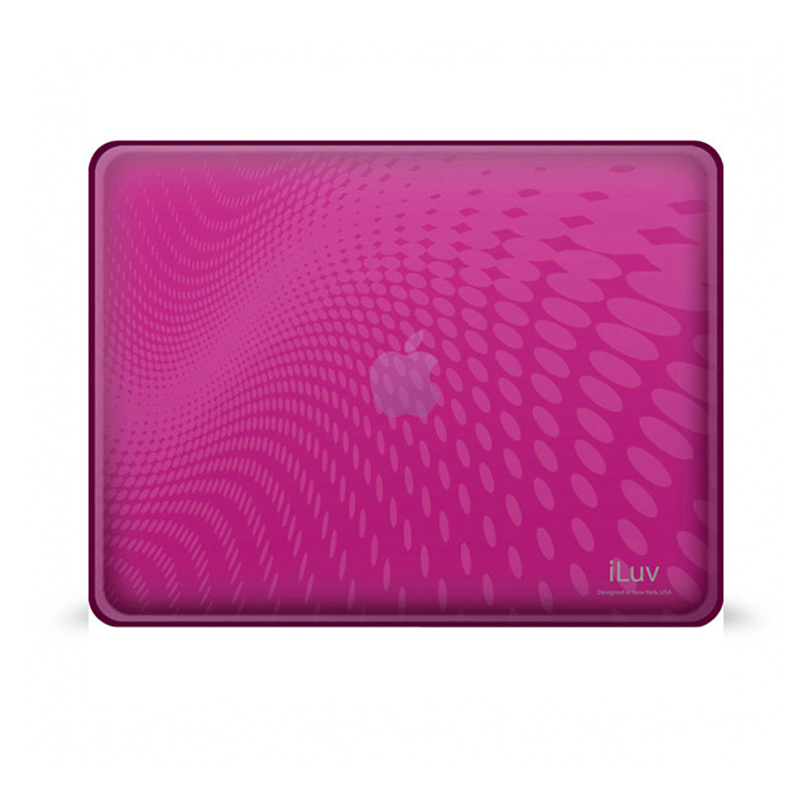 Pink Flexi-Clear Case With Dot Wave Pattern For IOS 1G