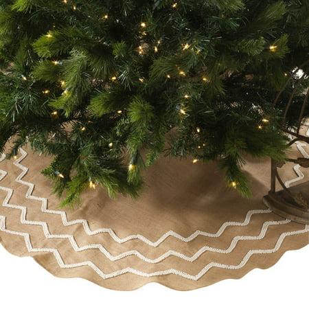 the holiday aisle beaded burlap christmas tree skirt - Burlap Christmas Tree Skirt