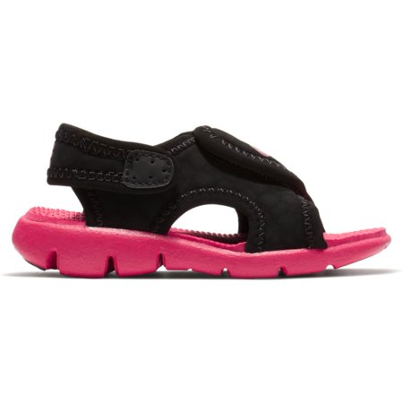 2e5f0f517dc0e1 Nike - Nike Sunray Adjust 4 Toddler Girls  Sandals Black Rush Pink 8C -  Walmart.com