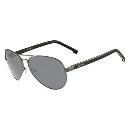 lacoste men's l163s aviator sunglasses, silver, 62 (Lacoste Aviators)