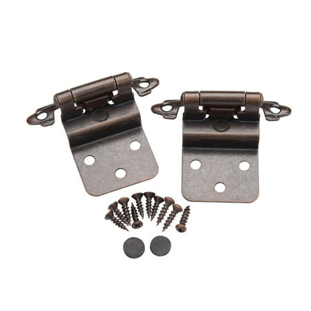 Belwith Offset Hinges (25 Pair 50 pcs Self Closing Cabinet 3/8 Offset Inset Hinges Bronze ORB)