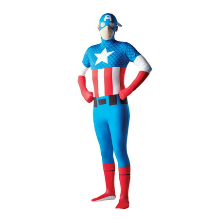 Mens Captain America Second Skin Halloween Costume
