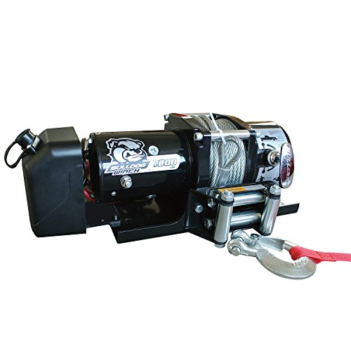 Bulldog Winch 7800lb Trailer Winch, 47' wire Rope, Roller Fairlead, Mnt Plate, L by Bulldog Winch