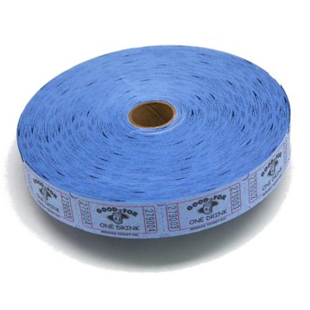 Blue Good For One Drink Ticket Roll, Each ticket is 2 long and 1 wide By MUNCIE NOVELTY COMPANY (Novelty Companies)