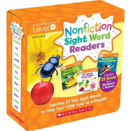 Nonfiction Sight Word Readers: Guided Reading Level D (Parent Pack): Teaches 25 Key Sight Words to Help Your Child Soar as a Reader! (Paperback) Reading Sight Words