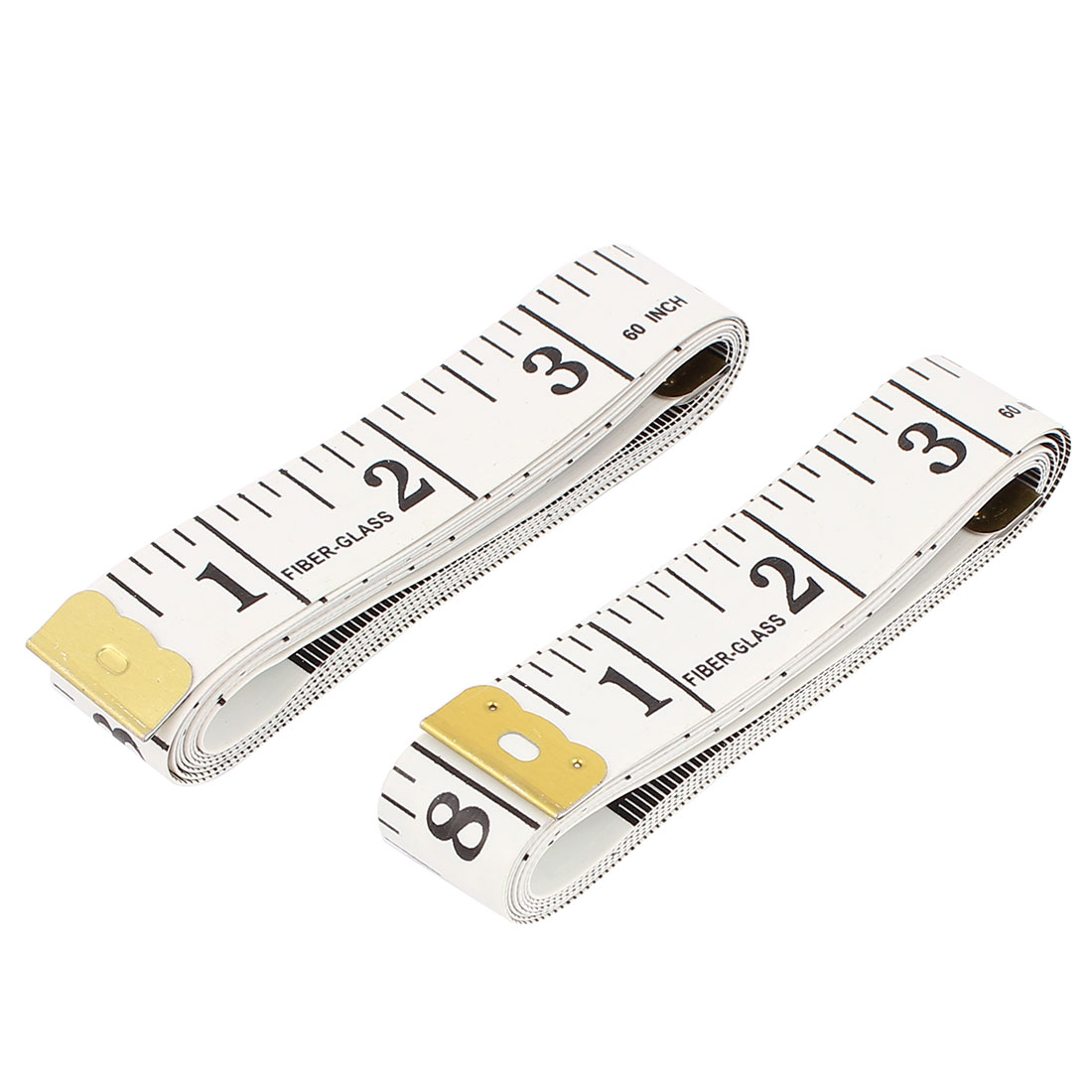 Unique Bargains Body Measuring Tape Tailor Sewing Soft Measure Ruler 1.5M 60 Inch 2 Pcs White