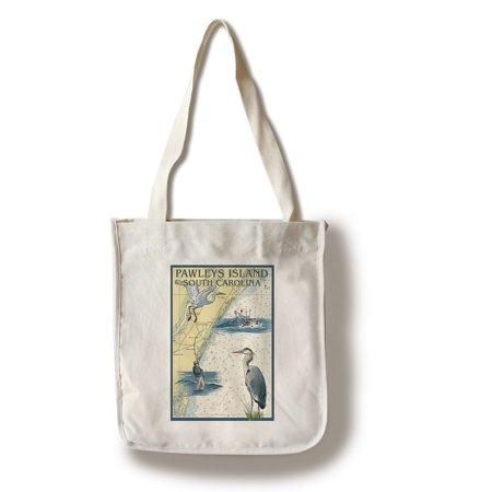 Pawleys Island, South Carolina - Nautical Chart - Lantern Press Artwork (100% Cotton Tote Bag - Reusable)