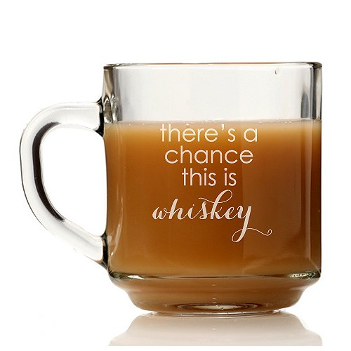 Chloe and Madison There's a Chance This is Whiskey Glass Coffee Mug (Set of 4)