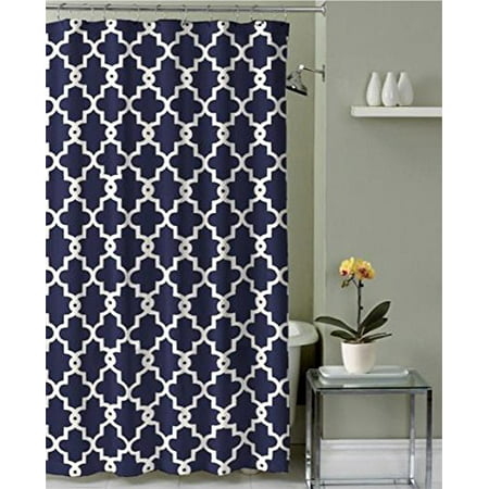 Geometric Patterned Shower Curtain 72-inch By 72-inch - NAVY ()