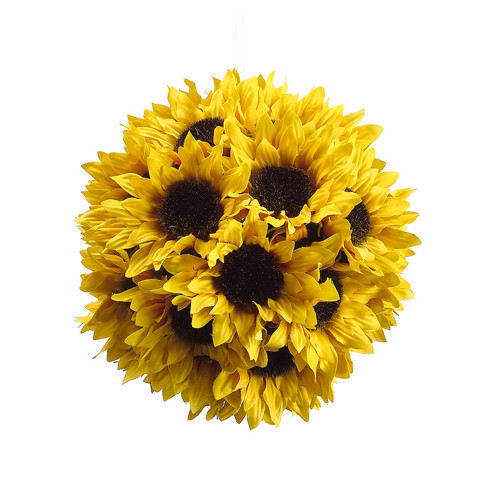 Silk Flower Depot Sunflower Ball with Hanger
