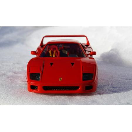 - LAMINATED POSTER Model Red Auto Toys Ferrari Sports Car Model Car Poster Print 24 x 36