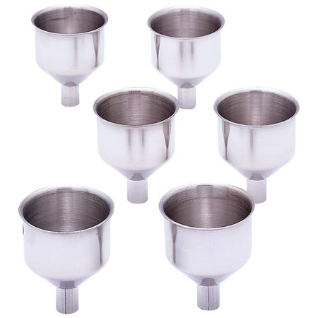 Maxam® 6pc Large Stainless Steel Flask Funnel Set - KTFLFNL6 - Tiny Funnel