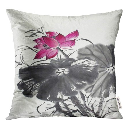 STOAG Pink Aquatic Bright Lotus Flower in Batik Bloom Throw Pillowcase Cushion Case Cover 16x16 inch ()