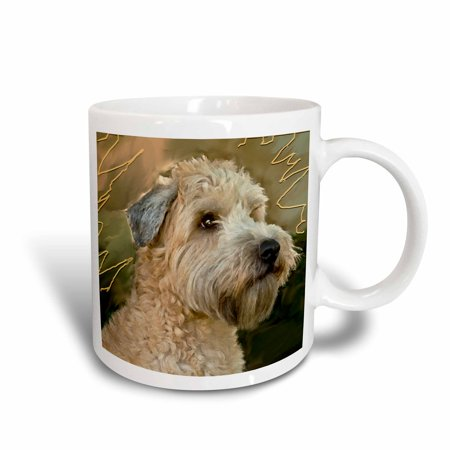 3dRose Soft Coated Wheaten Terrier Portrait, Ceramic Mug,