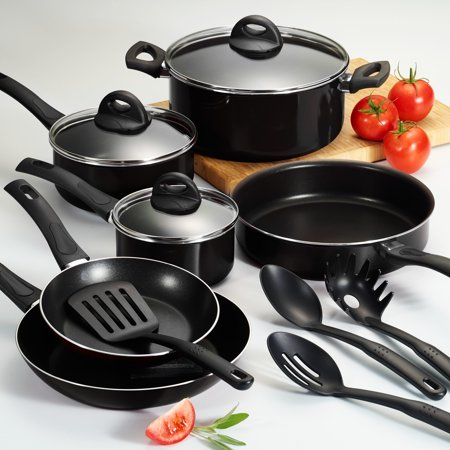 Tramontina 13 Pc EveryDay Black Nonstick Cookware Set