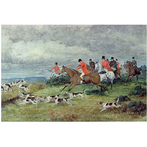 "Trademark Fine Art ""Fox Hunting in Surrey"" Canvas Art by Randolph Caldecott"