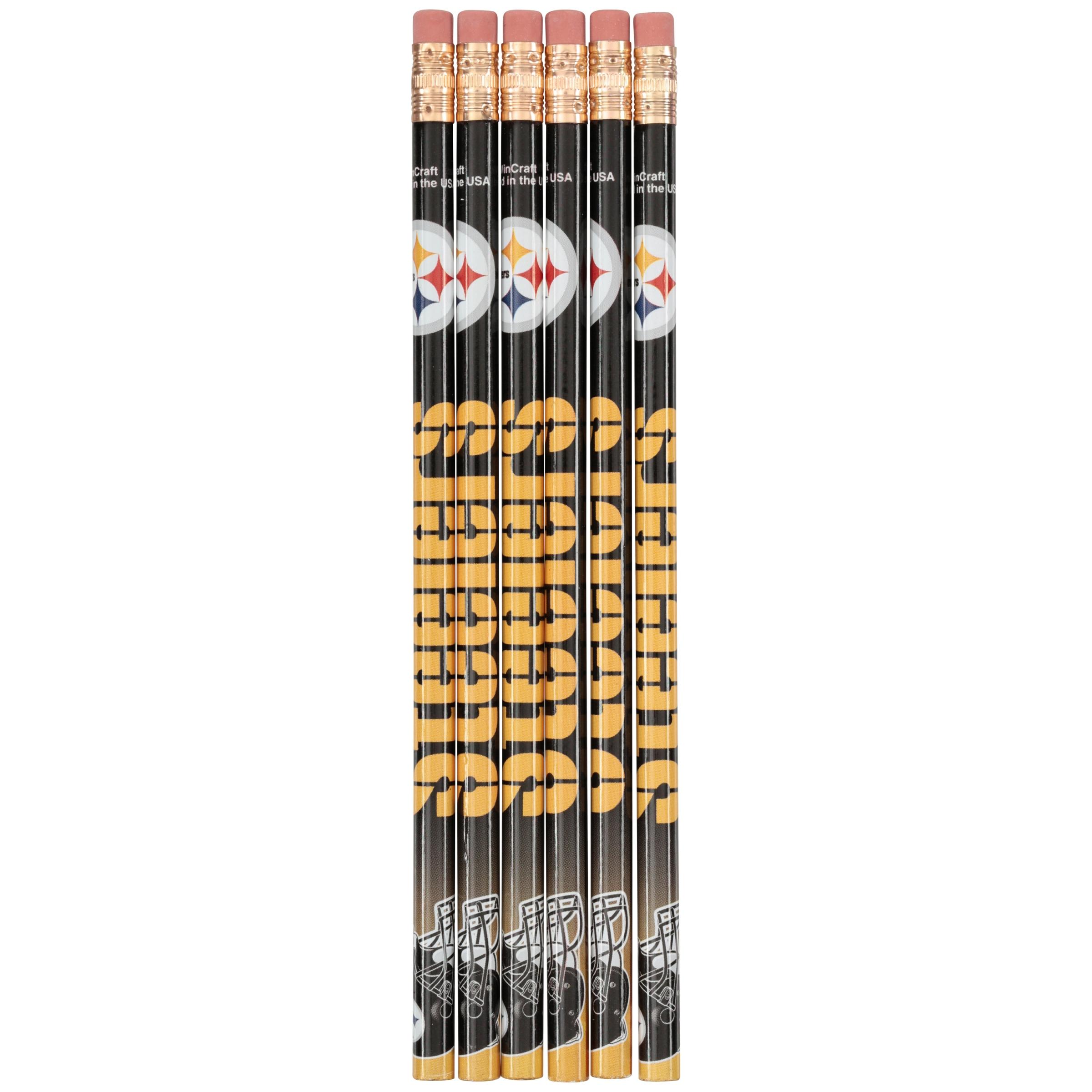 NFL Steelers Pencils 6 ct Pack