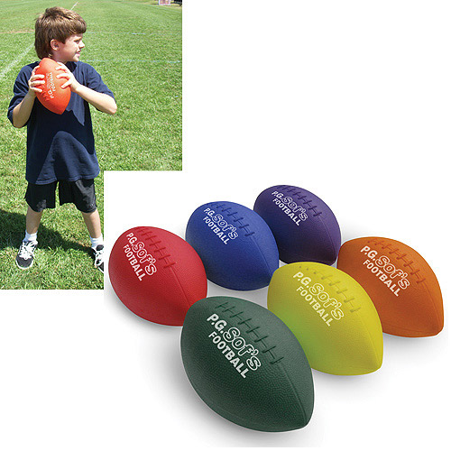 "Color My Class P.G. Sofs Football, 9.25"" Long"