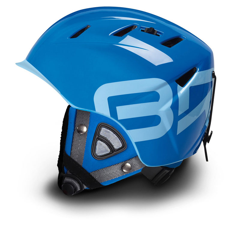 Briko 10.0 Contest Ski Helmet Big Air Blue with Contest Ears Size Large 59-60 by SOGEN SPORTS INC.