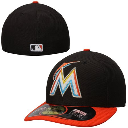 new arrival 0b060 c1733 Men s New Era Black Orange Miami Marlins Low Crown Diamond Era Performance  59FIFTY Fitted Hat - Walmart.com