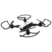 Sky Rider Raven Foldable Drone with GPS and Wi-Fi Camera, DRWG538B, Black