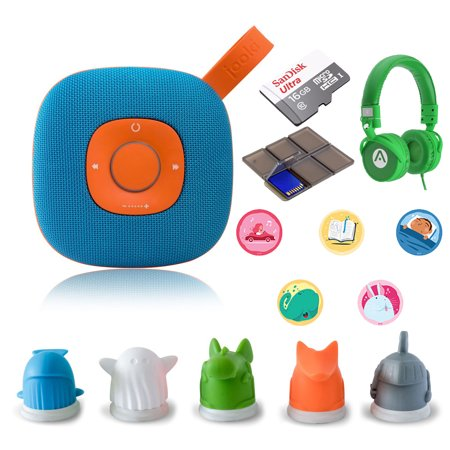 Jooki WiFi Streaming Speaker - Simply The Best Music Player for Kids Screen-Free with Extra White Jooki Tokens + Audiomate