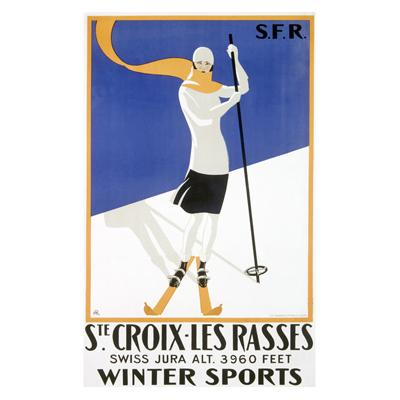 "ArteHouse Decorative Wood Sign ""Swiss St Croix Snow Ski"", 25"" x 34"", Planked Wood"