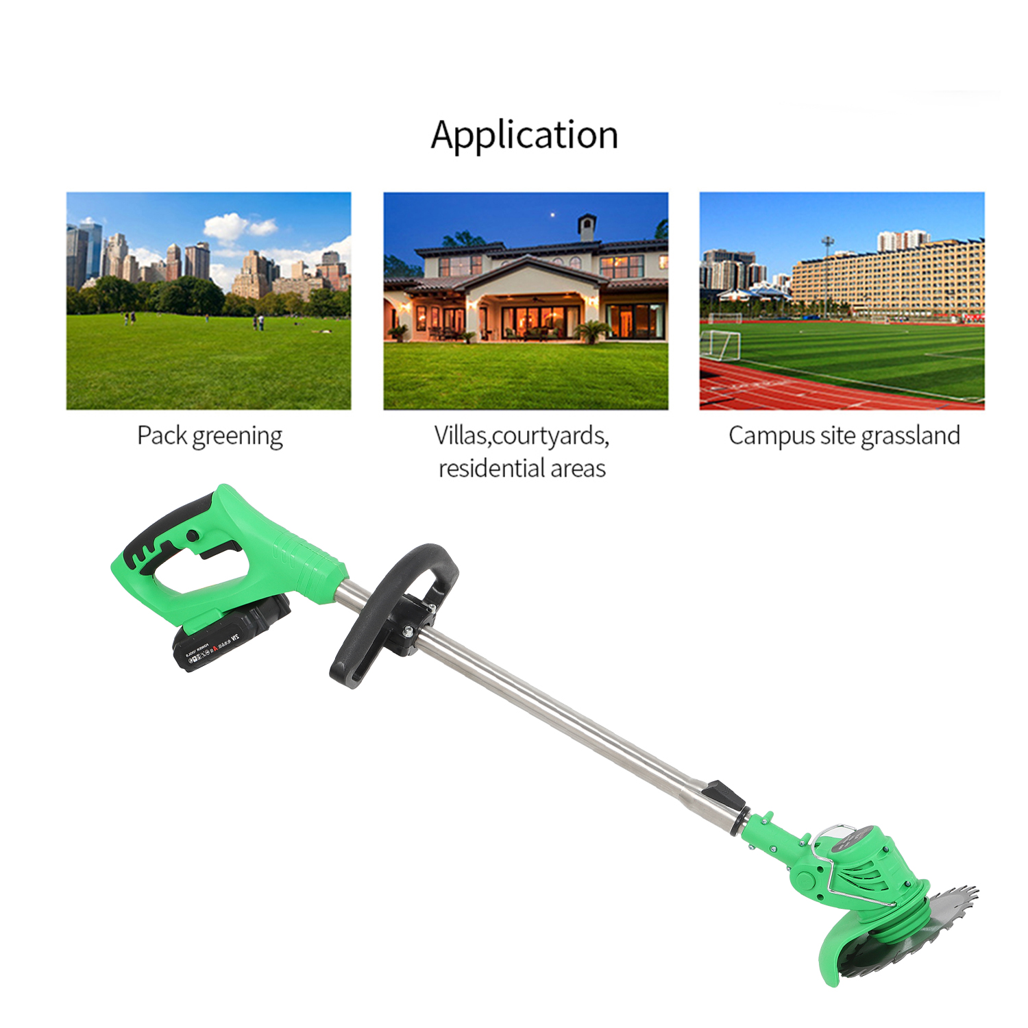 21V Cordless Grass Trimmer Electric Trimmer Lawn Cutter Mower Grass Weed Machine