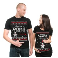 8de756772 Product Image Christmas Couple Matching Maternity Tees Best Christmas Gift  Pregnancy Shirt There is a cookie in that