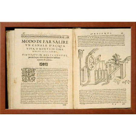 Illustrated Book Pages from Artifiiosi Et Curiosi Moti by Heron of ...