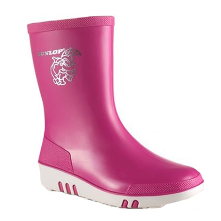 Dunlop Childrens Unisex Mini Waterproof Wellington Wellie Boot K172110 Size US 9.5 M | UK 8.5 | EU 26