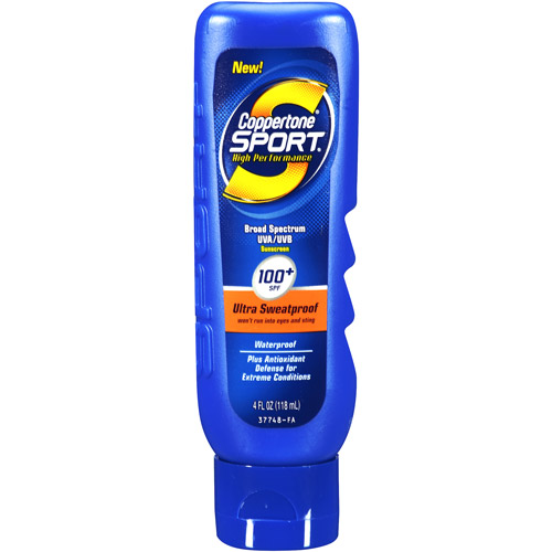 Coppertone Sport High Performance Ultra Sweatproof Sunscreen SPF 100+, 4 oz