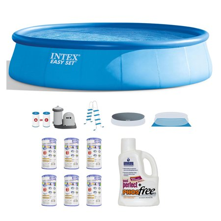Intex Inflatable Above Ground  Pool Set w/  Filter (6 pk) & Natural