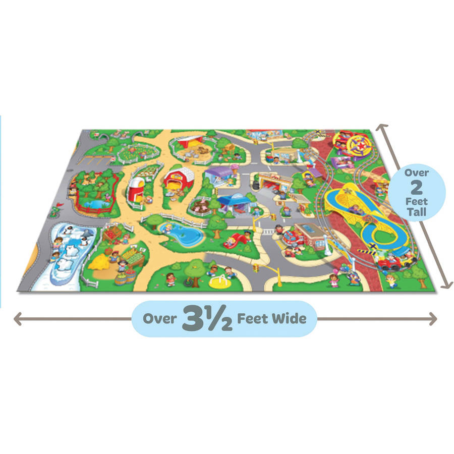 Fisher-Price Orignal Mega Mat with vehicle