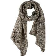 Basha Womens Leopard Print Scarf One Size Beige/brown/black