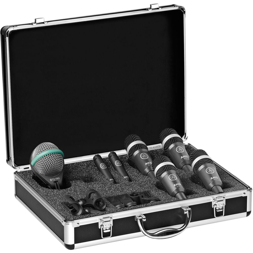 AKG Drum Set Concert 1 Professional Drum Microphone Set by