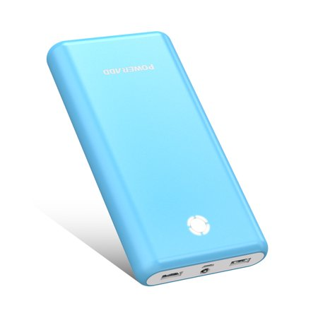 Poweradd Pilot X7 20000mAh Power Bank Portable Charger Dual USB Ports External Battery for iPhone 7, iPad Pro, Galaxy S8 Tablets Cell Phone