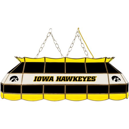"Trademark Global University of Iowa 40"" Stained Glass Billiard Table Light Fixture"
