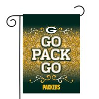 "Green Bay Packers Sparo 13"" x 18"" Double-Sided Garden Flag with Pole - No Size"