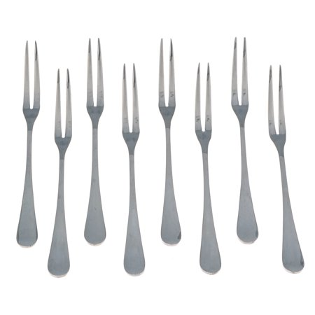 Seikei Bistro Appetizer Cocktail and Fruit Forks - 8 Piece Set - Stainless - Appetizer Forks