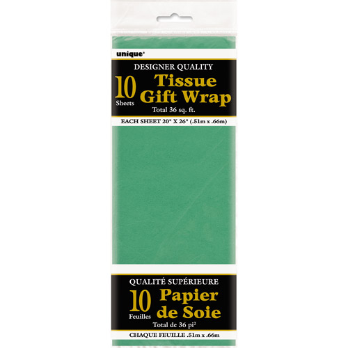 Tissue Paper Sheets, 26 x 20 in, Green, 10ct