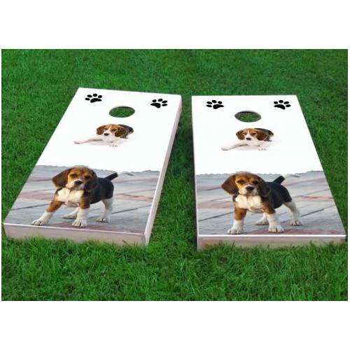 Custom Cornhole Boards Beagle Lovers Cornhole Game (Set of 2) by Custom Cornhole Boards