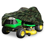 "Deluxe Riding Lawn Mower Tractor Cover Fits Decks up to 54"" - Camouflage - Water and UV Resistant Storage Cover"